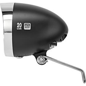 XLC LED Retro Luz Delantera incl. Reflector, negro/Plateado